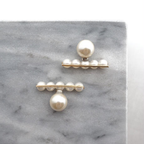 Balance pearl Earring・Pierce/gold