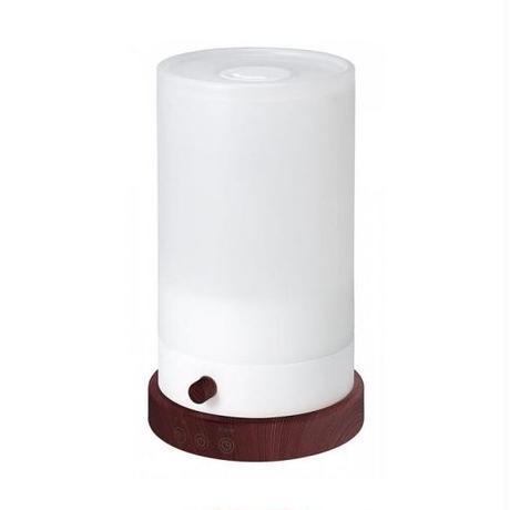 LEDライト調光機能付 加湿器「アカリ」 ナチュラル or ダークウッド・ダークウッド