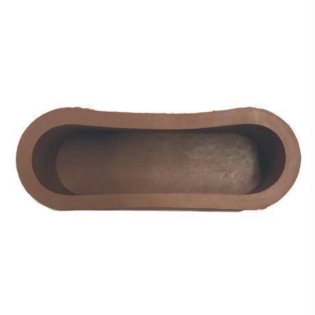 RPゴム足 小判型 茶 大 21x62x25(4個入)