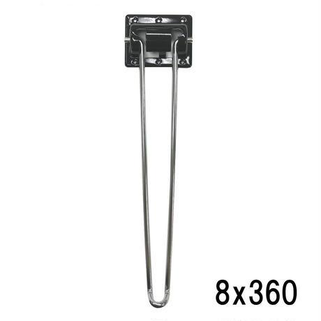 クローム丸棒脚 8x360