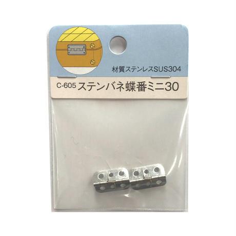 ステンバネ蝶番 ミニ30 C-605(2枚入)