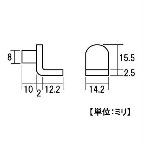 ダイキャストL型ダボ S-262(4個入)