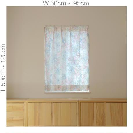 """【ORDER CURTAINS】オーダーカーテン:""""花火""""ピンク 巾 50cm~ 95cm ・ 丈 50cm~120cm(1枚)"""