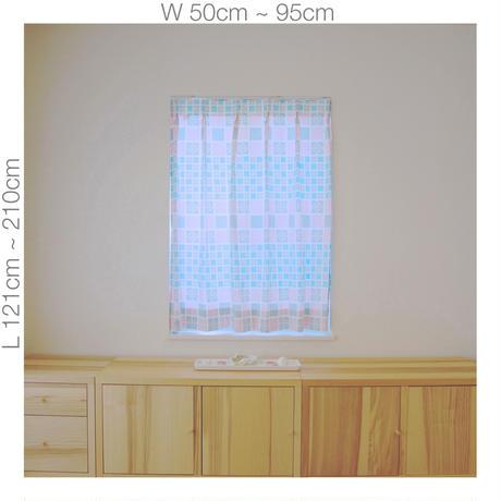 """【ORDER CURTAINS】オーダーカーテン:""""雪""""ピンク 巾 50cm~ 95cm ・ 丈 121cm~210cm(1枚)"""