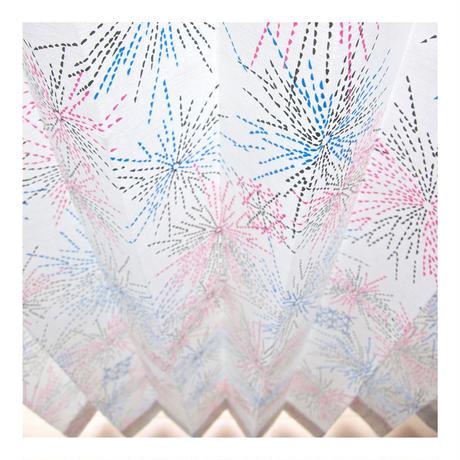 "【CUSTOM CURTAINS】オーダーカーテン""花火"":巾 50cm~ 95cm ・ 丈 121cm~210cm(1枚)"