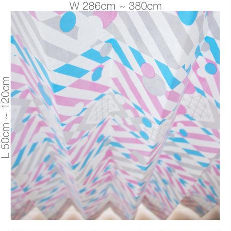 """【ORDER CURTAINS】オーダーカーテン(遮光裏地付):""""羽根""""パープル 巾 286cm~380cm ・ 丈 50cm~120cm(2枚セット)"""