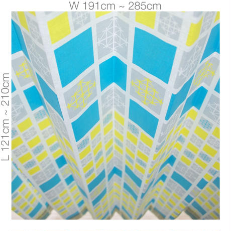 "【ORDER CURTAINS】オーダーカーテン(遮光裏地付):""雪""イエロー 巾 191cm~285cm ・ 丈 121cm~210cm(2枚セット)"