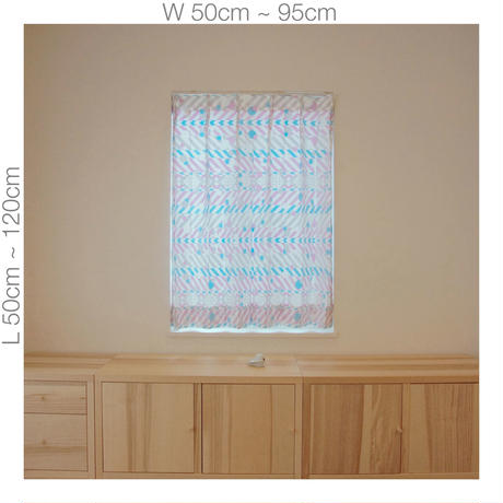"""【ORDER CURTAINS】オーダーカーテン:""""羽根""""パープル 巾 50cm~ 95cm ・ 丈 50cm~120cm(1枚)"""