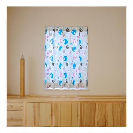 """【CUSTOM CURTAINS】オーダーカーテン""""水玉"""":巾 50cm~ 95cm ・ 丈 121cm~210cm(1枚)"""