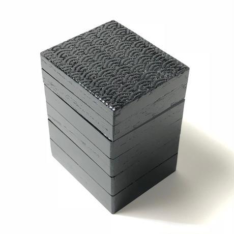 黒漆 お針箱三段