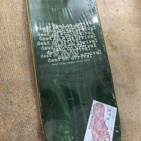 D.OA  toetag team deck  8.25inch (green wood)