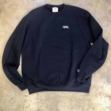 "Wood plank embroidery sweat ""Navy"