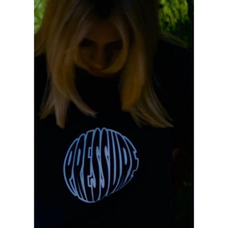 "PRESSURE ""CircleLogo"" T-shirts (Black)"