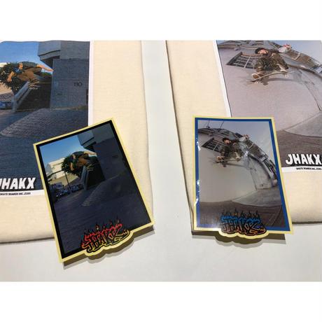 "JHAKX ""Matt Photo T-shirts with Sticker"" LA"
