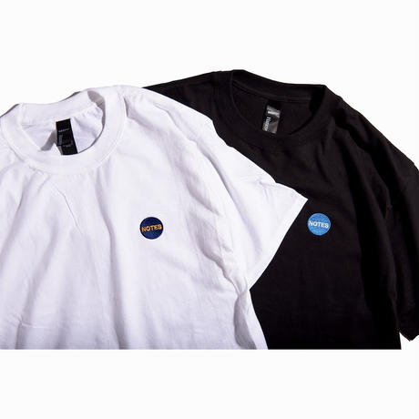 Note magazine logo embroidery T (white