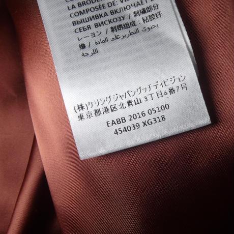 GUCCI スネーク レザージャケット 48