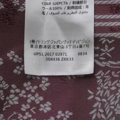 GUCCI フラワー刺繍 スパンコールブルゾン 38