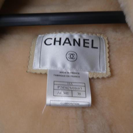 CHANEL ムートンジャケット ホワイト 34