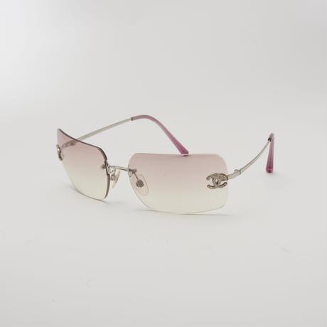 CHANEL ビンテージサングラス ピンク