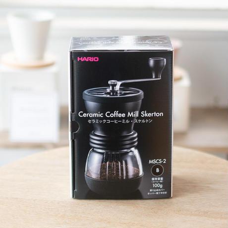 HARIO コーヒーミル 手挽き セラミック スケルトン