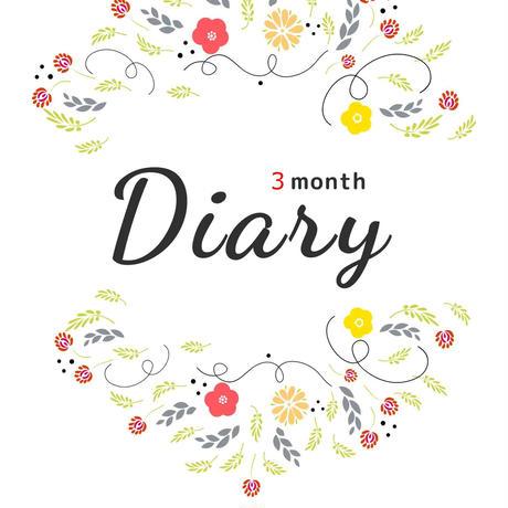 3 month Diary(電子書籍pdfファイル形式)