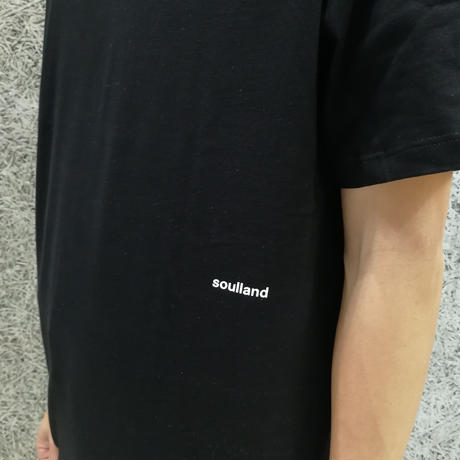 SOULLAND COFFEY T-SHIRT BLACK