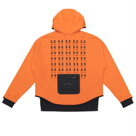 PALM  ANGELS  × UNDER ARMOUR LOOSE HOODY ORANGE
