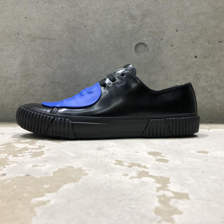 BOTH PARIS Rubber Patch Low-top BLACK/BLUE