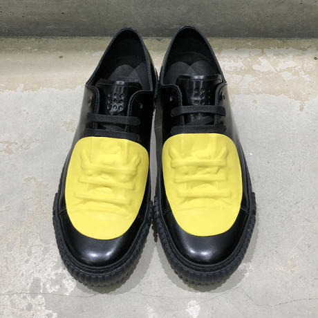 BOTH PARIS Rubber Patch Low-top BLACK/YELLOW