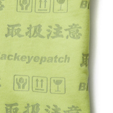 BLACK EYE PATCH HANDLE WITH CARE SWEAT PANTS YELLOW