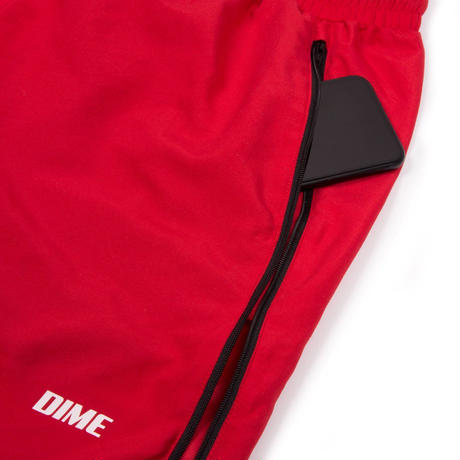 DIME ZIPPER PANTS RED