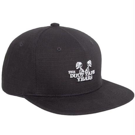 THE DUCT TAPE YEARS DOUBLEHEADER 5PANEL SNAPBACK CAP BLACK
