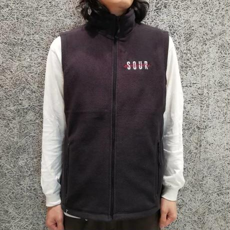 SOUR  SPOTHUNTER FLEECE  VEST  BLACK