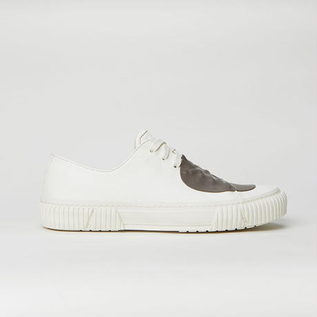 BOTH PARIS Rubber Patch Low-top With Graphic Foxing  WHITE/GREY