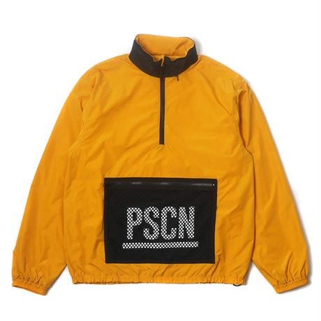 PSCN MESH P HALF ZIP JACKET GOLD