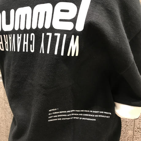 WILLY CHAVARRIA × HUMMEL  HALF-ZIP SWEATER  BLACK