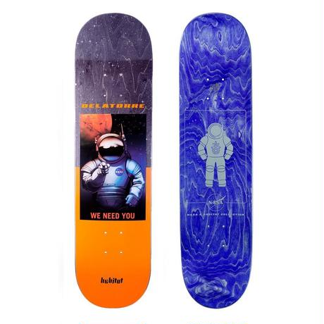 HABITAT SKATEBOARDS×NASA DELATORRE DECK 8.125INCH