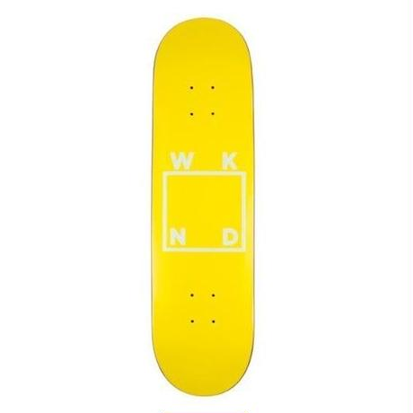 WKND SKATEBOARDS YELLOW LOGO DECK 8.0/ 8.25 INCH