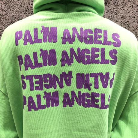 PALM  ANGELS SMALL ANGEL HOODY GREEN