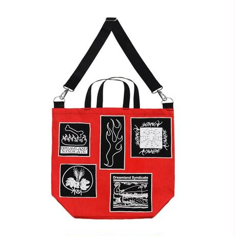 DREAMLAND SYNDICATE ZWRK HEAVY DUTY TOTE BAG RED