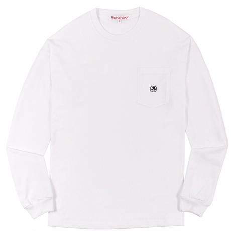 RICHARDSON  POCKET GLYPH LONGSLEEVE TEE WHITE