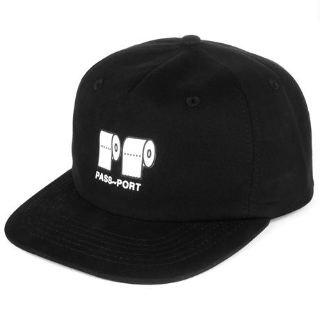 PASS~PORT  POO POO 5 PANEL CAP BLACK