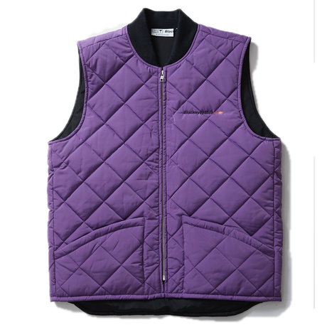 BLACK EYE PATCH STREET DREAM QUILTING VEST PURPLE