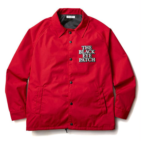 BLACK EYE PATCH COACHES JACKET RED