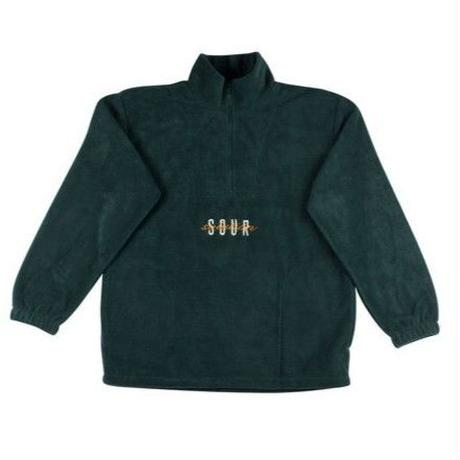 SOUR  SPOTHUNTER FLEECE  1/4  ZIP  BOTTLE GREEN