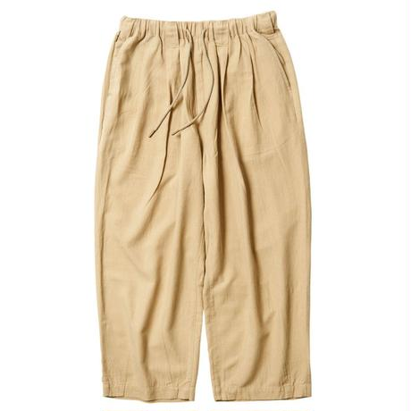 TIGHTBOOTH PRODUCTION BAGGY LINEN PANTS BEIGE