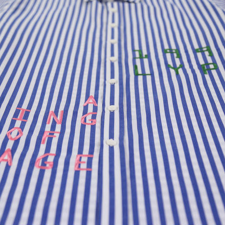 LYPH HARVARD SHIRT BLUE/WHITE