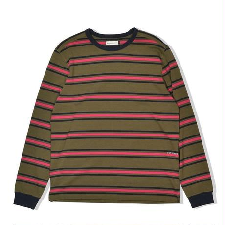 POP TRADING COMPANY  CO STRIPED LONGSLEEVE TEE MULTI COMBAT/PINK