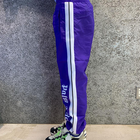 PALM  ANGELS  OVER LOGO TRACK PANTS  PURPLE