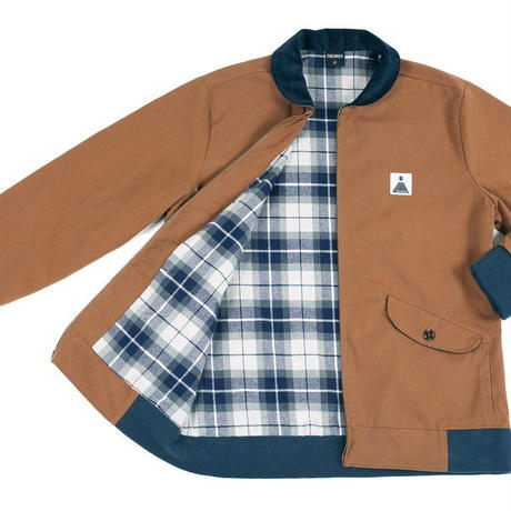 THEORIES THEORAMID UTILITY JACKET BROWN/NAVY